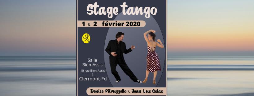 Stage avec Denise Pitruzzello et Jean-Luc Colas 1 et 2 février 2020
