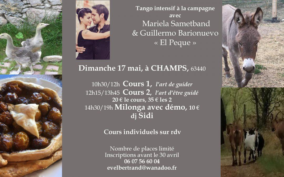 "Dimanche tango à la campagne avec Mariela Sametband et Guillermo Barionuevo ""El Peque"""