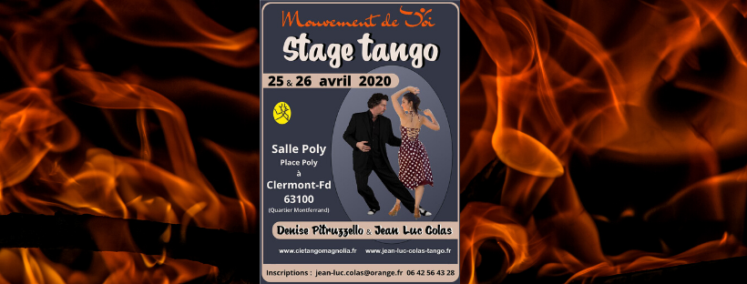 Stage tango 25 et 26 avril 2020 : Denise Pitruzzello et Jean-Luc Colas